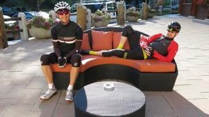 SGL: Ready to go.  DA: wake me when I need to ride my bike.