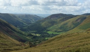 Looking down to the start of Bwlch y Groes