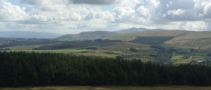 Brecon Beacons from Bwlch Cerrig summit: Hurricane Bertha is looming out west.