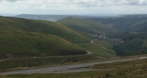 Yes, that really is a road in the UK: Bwlch from Cymer.  Awesome.