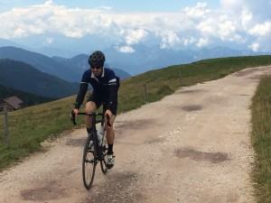 Loren and I explore a 'Deeker Road' on top of the Passo Ochini