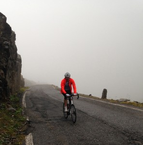 The Gavia in rain - not a great place to be!