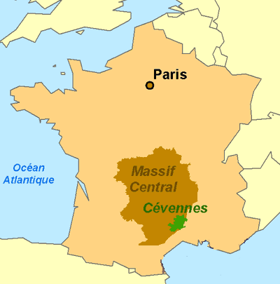 Our route follows a huge clockwise circle from the Mediterranean, up through the Cevennes and the Massif Central and eventually back to our starting point.