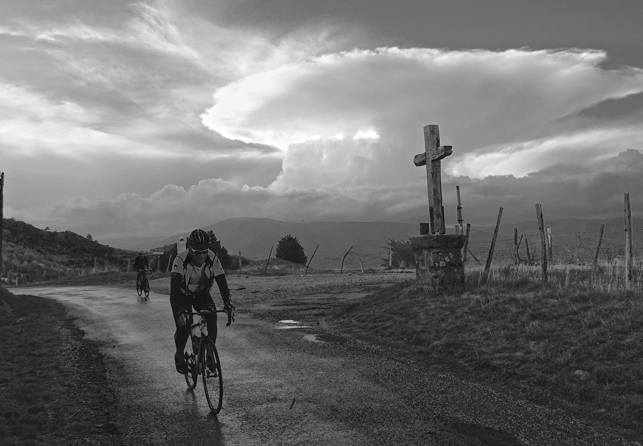 Allan emerges from the storm at the end of Stage Seven.