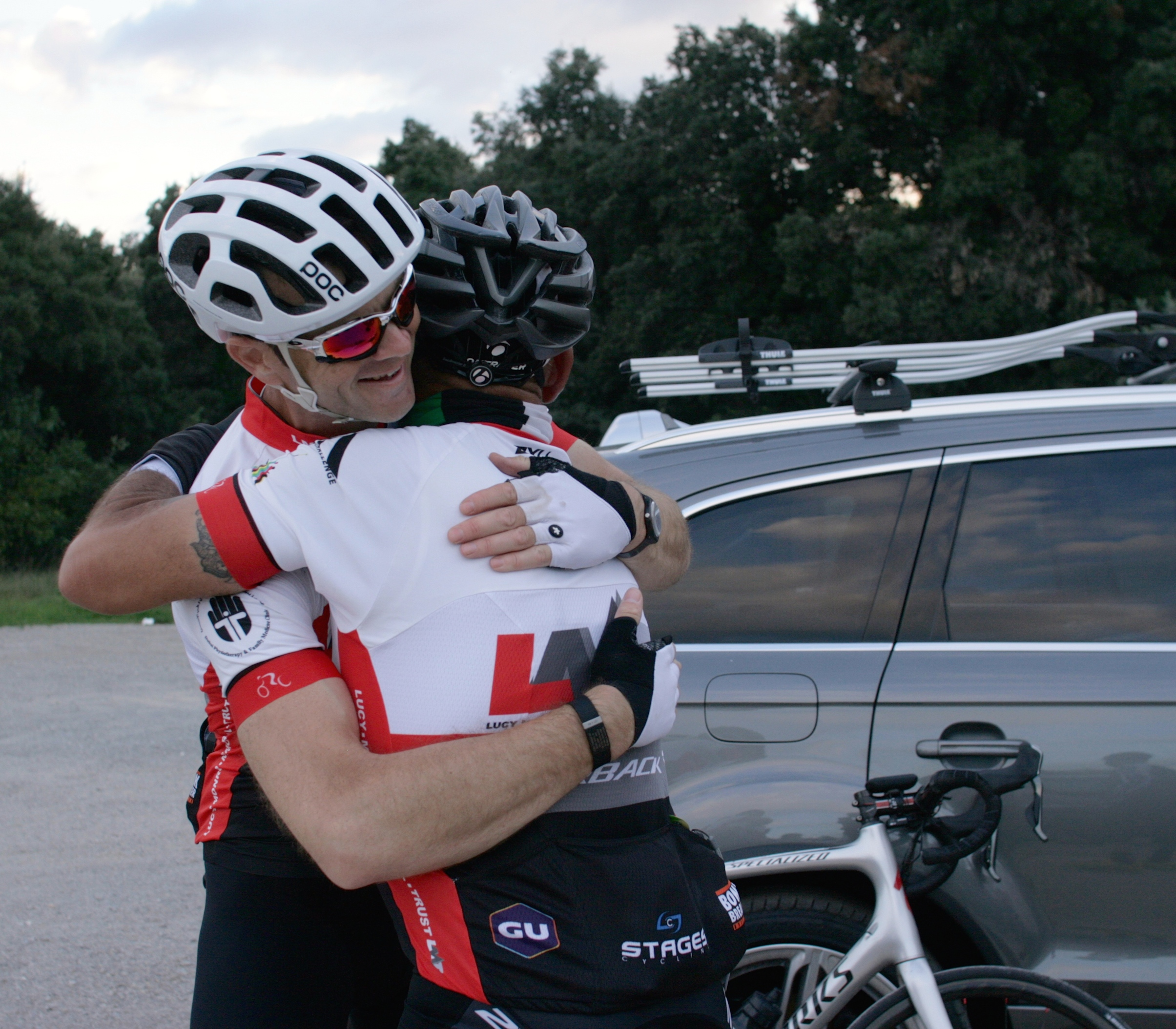 Allan & Guy at the finish. We did a good thing here and will have lifelong memories from the Cevennes. Photo: Paul Davy
