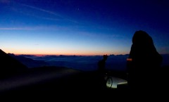 An early start on the Bonette meant we arrived at the summit for sunrise at 5.00am.