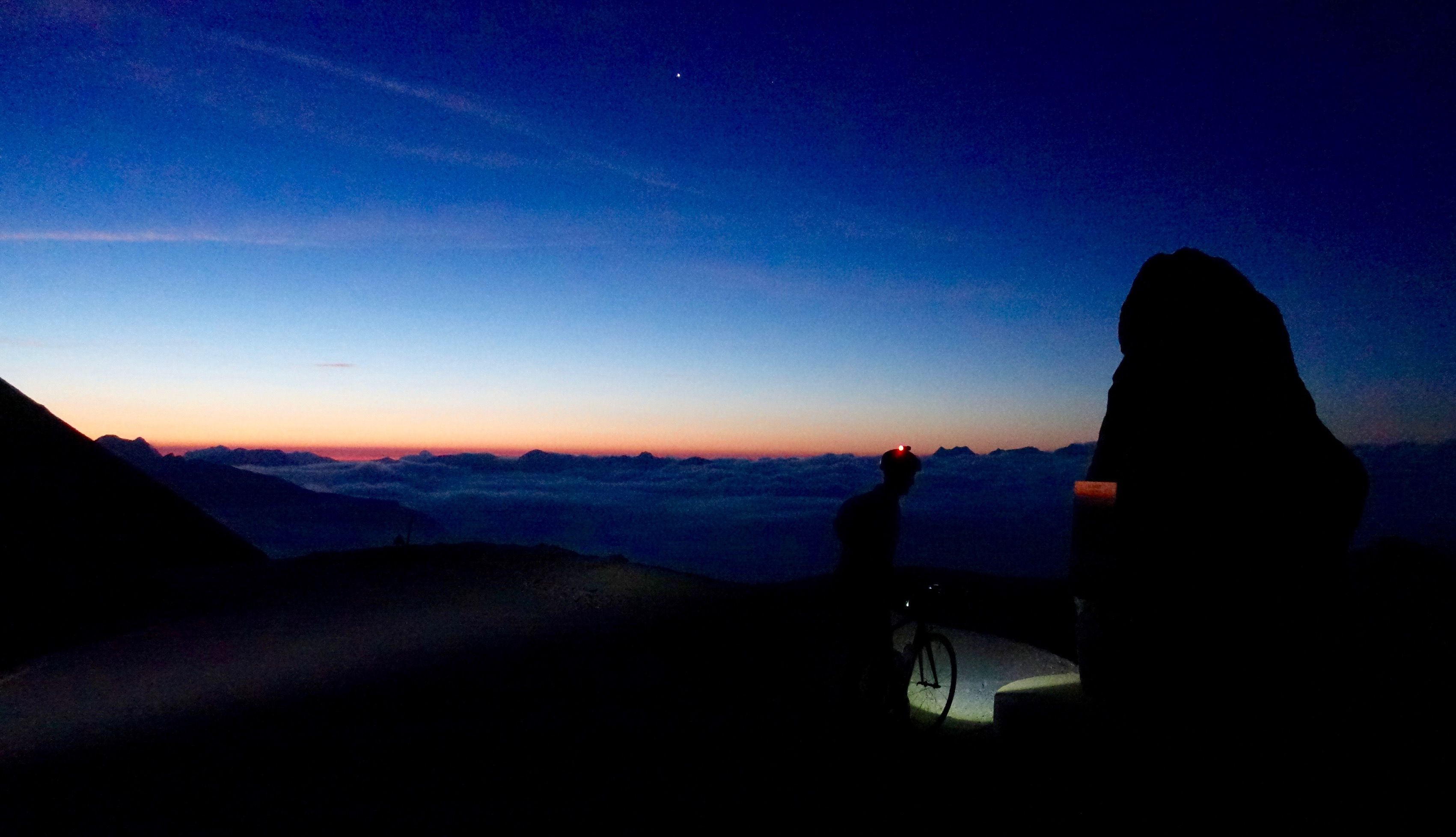 Kev on the summit at 5.10am. This made getting up at 2.00am all worthwhile!