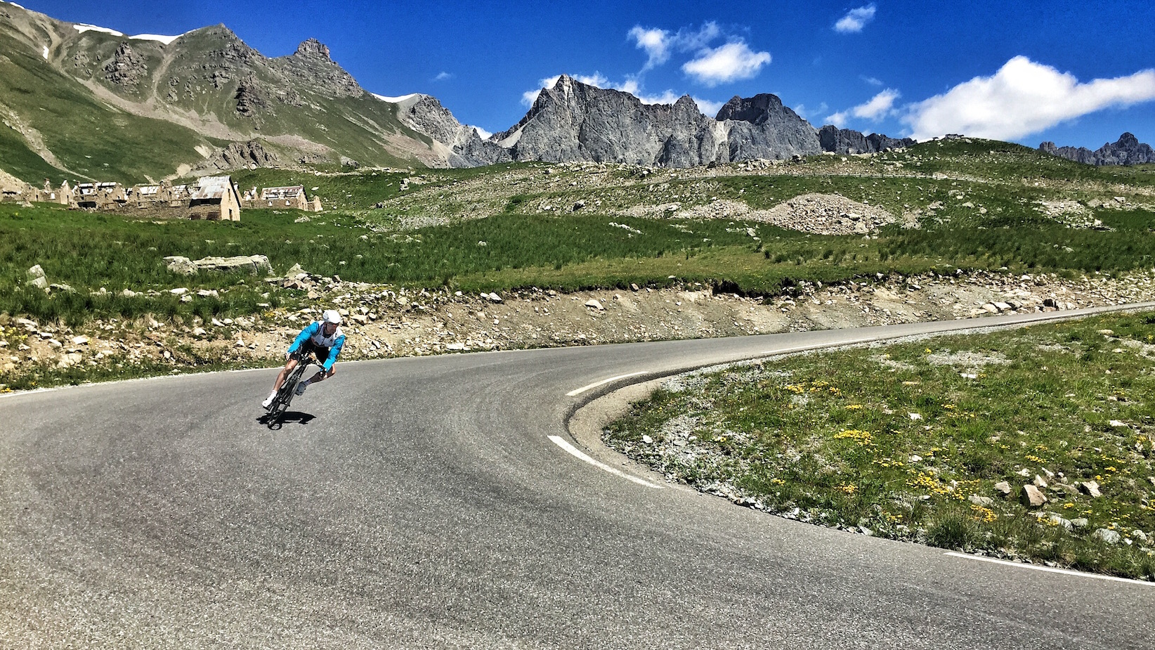 It only counts if you get off the mountain safely... Kev Mellalieu descends the Cime de la Bonette.