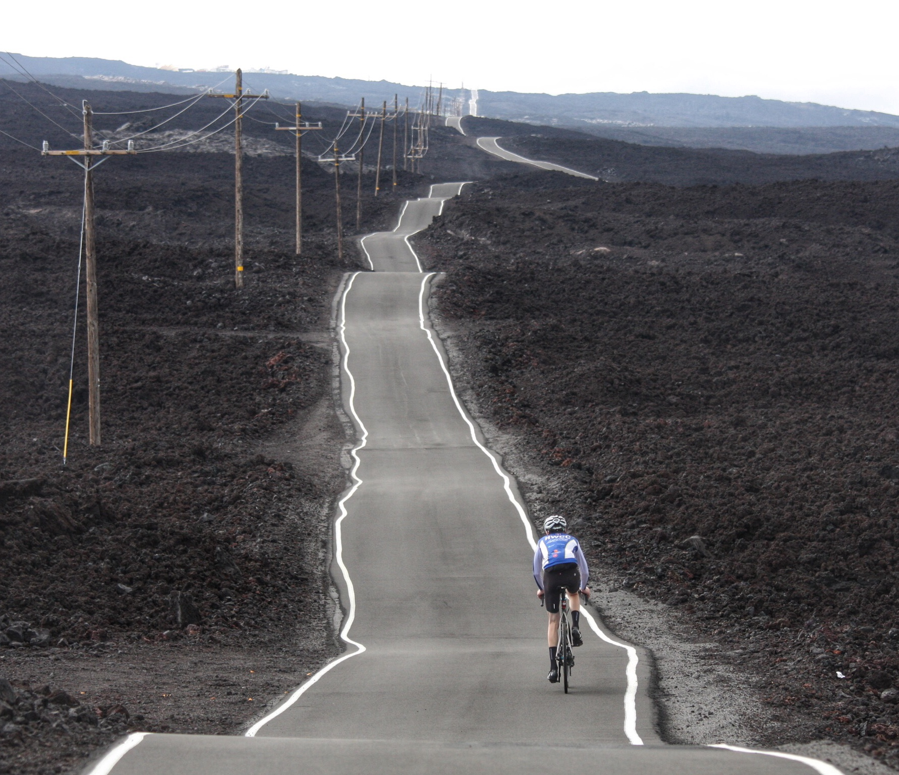 Mauna Kea may get more airtime, but the Mauna Loa road is equally stunning. This is what happens if you decide to lay a road over successive lava flows!